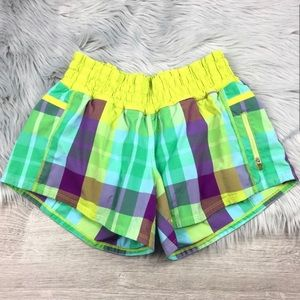 *RARE* Lululemon Foxy Plaid Tracker Shorts Size 8